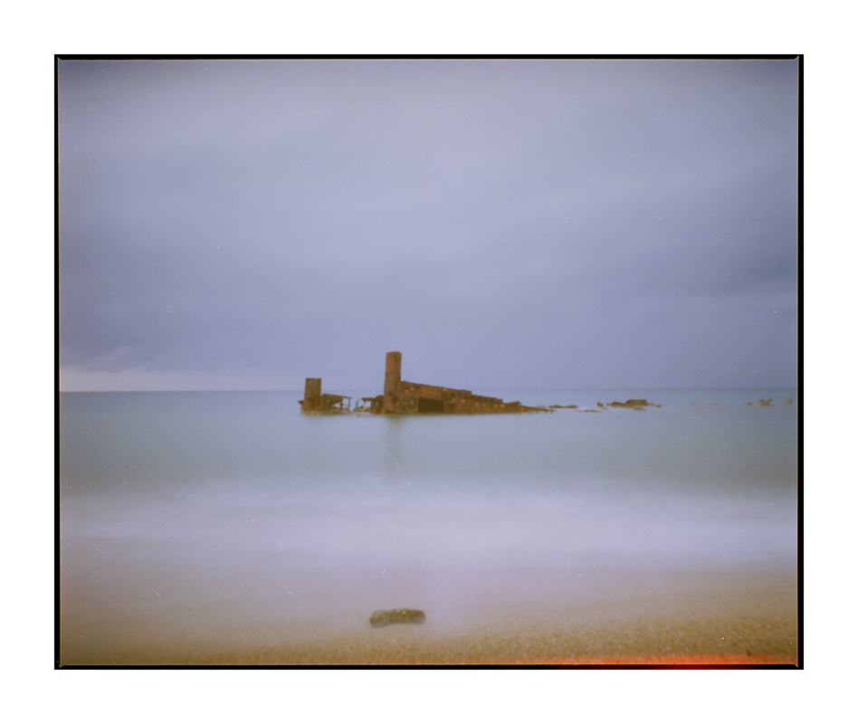 pinhole landscape / 5x4 wooden box camera / Kodak Ektar 100 color negative film
